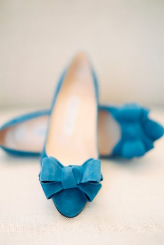 pale blue wedding flats with bow darcy benincosa