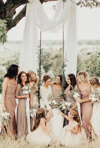 rustic wedding bride bridesmaids lana babiy