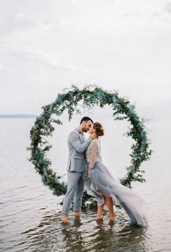 rustic wedding bride groom in water Muravnik Photography