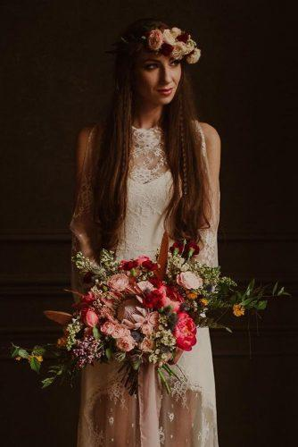 rustic wedding color bouquet janetkaczmarekphotography