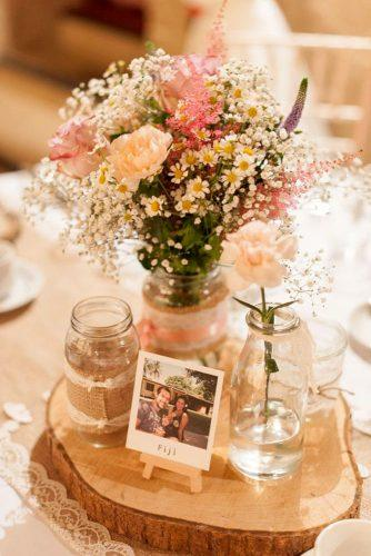 rustic wedding table decor 2