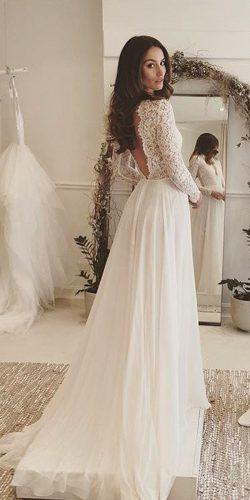 long sleeves rustic wedding gowns 2