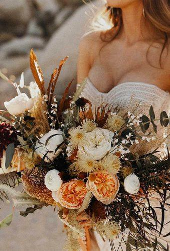 rustic wedding orange rustic bouquet jordanvoth