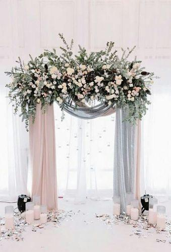 rustic wedding ristic white arch elslights.id