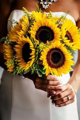 sunflower wedding bouquets big sunflower in bouquet POPography