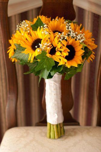sunflower wedding bouquets bouquet on chair Crow River Floral