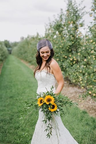 sunflower wedding bouquets chic wedding bouquet