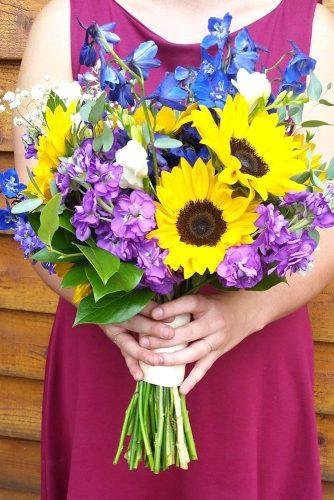 sunflower bridal bouquets flowers by kristine