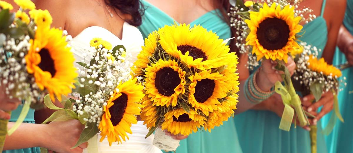 sunflower wedding bouquets main