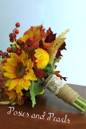 sunflower bridal bouquets 2