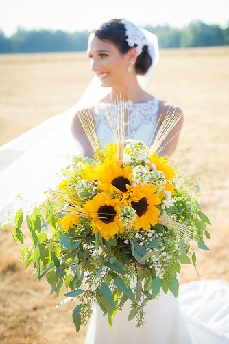 sunflower wedding bouquets rustic wedding bouquet