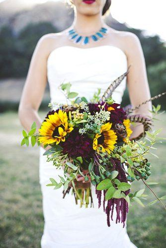 sunflower bridal bouquets 3