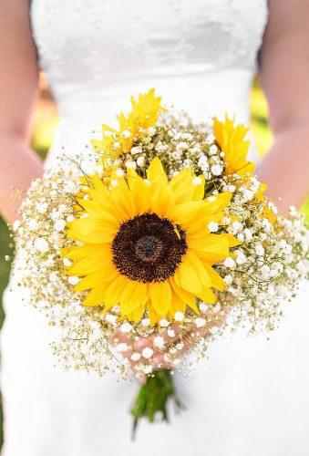sunflower wedding bouquets single sunflower bouwuet shawnawolfphotography