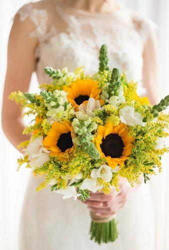 sunflower wedding bouquets sunflower with white flower queenara accessories