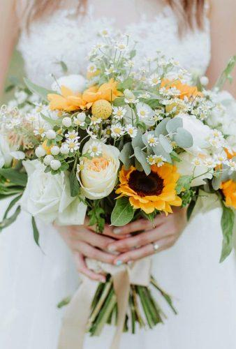 sunflower wedding bouquets tender bouquet floralsbybenita