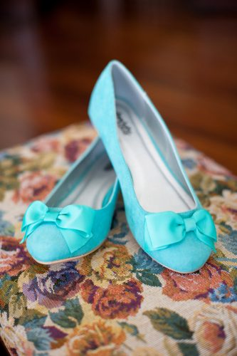 wedding flats bright blue the veil wedding photography