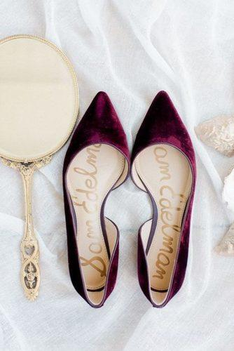 wedding flats burgundy colored rachel pearlman