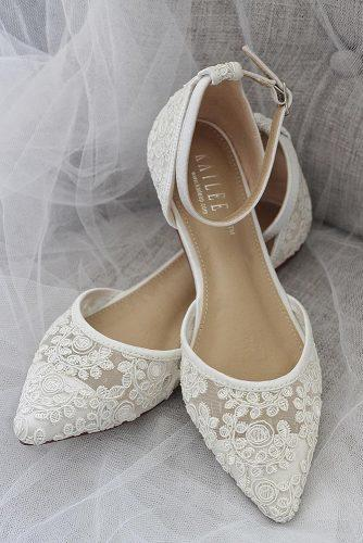 wedding flats lace comfortable kailee