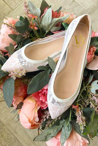 wedding flats lace comfortable vivabride