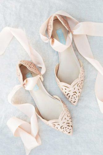 wedding flats pink lace mishelle boyd
