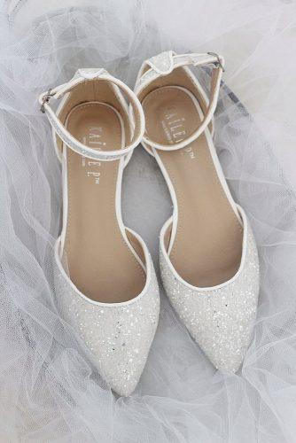 wedding flats sequins sparkle white comfortable kailee