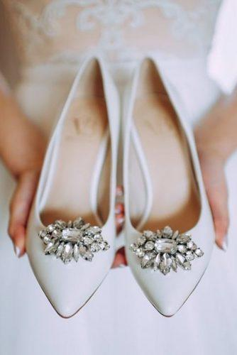 wedding flats sparkle with stones white viva bride