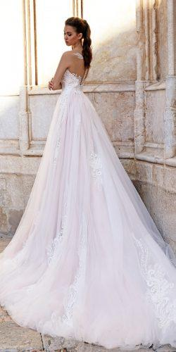 ball gown blush lace tattoo effect backless tina valerdi wedding dresses elisa