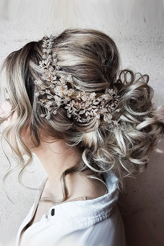 bridal hairstyles grey hair with halo morganhairco