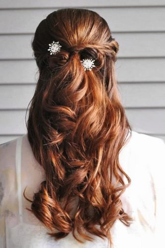 bridal hairstyles half up red hair gingersnaphairstyles