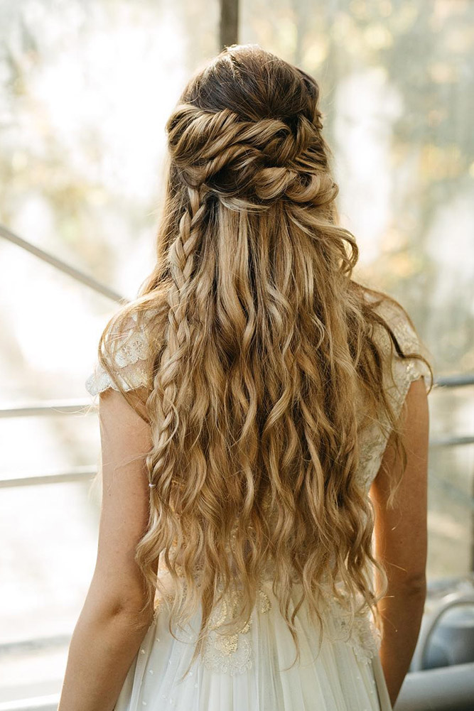 bridal hairstyles twisted half up anahhair