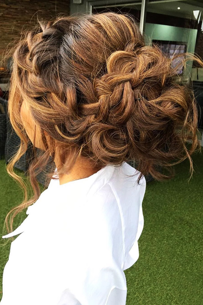 bridal hairstyles volume braided updo teasedhds
