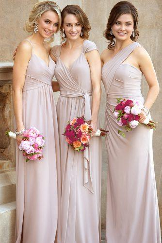convertible bridesmaid dresses long blush sorella vitta