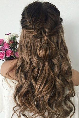 easy wedding hairstyles curls with braid hairromance