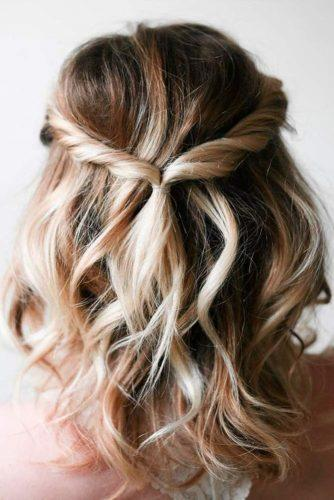 easy wedding hairstyles twisted for medium hair irrelephantblog