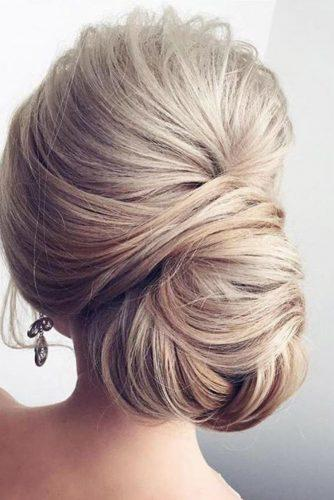 mother of the bride hairstyles elegant updo blond hair elstile