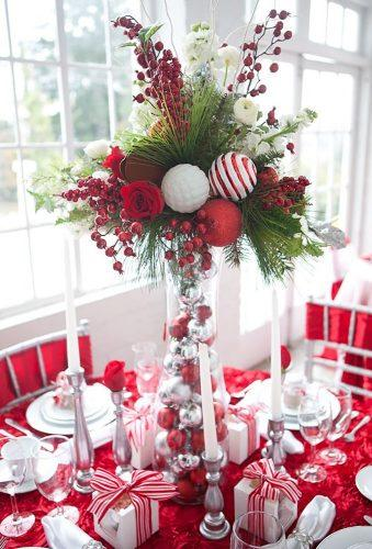 rustic winter wedding cristmas centerpiece decorationlove