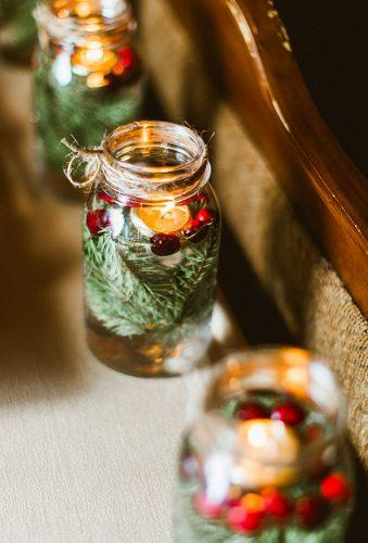 rustic winter wedding decor with jars Molly Jo Collection