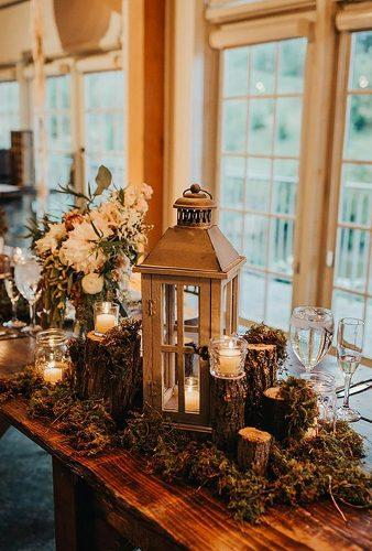 rustic winter wedding lantern centerpiece Tree of Life Films Photography