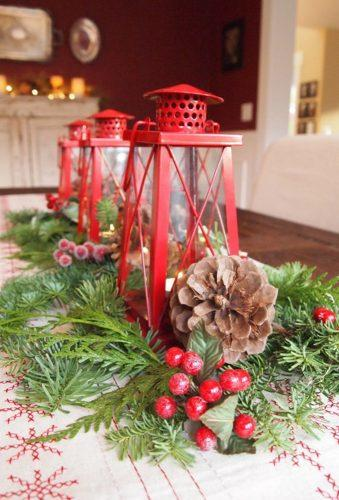 rustic winter wedding red lanterns decorationlove