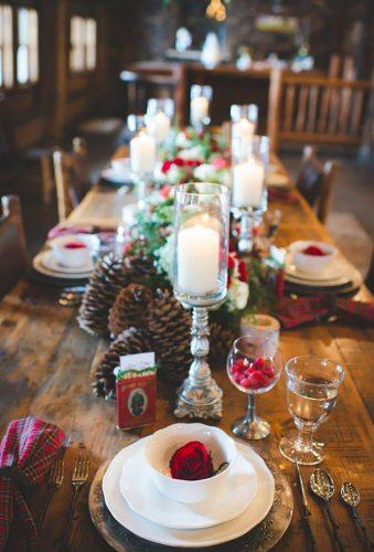 rustic winter wedding table decor Ashley Durham Studios