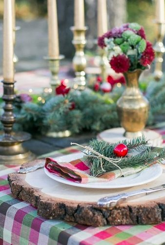 rustic winter wedding table decor kristinacheriphotography