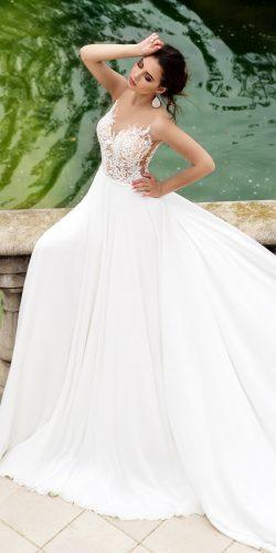 tina valerdi wedding dresses ball gown lace illusion neckline sleeveless magnolia