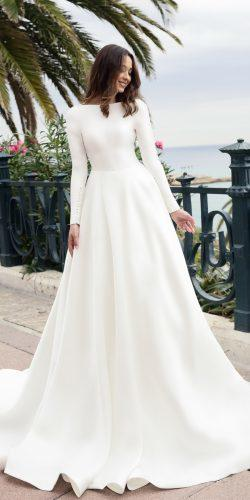 tina valerdi wedding dresses trendy simple long sleeves jewel neck teresa3