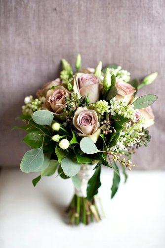 greenery wedding bouquets 1