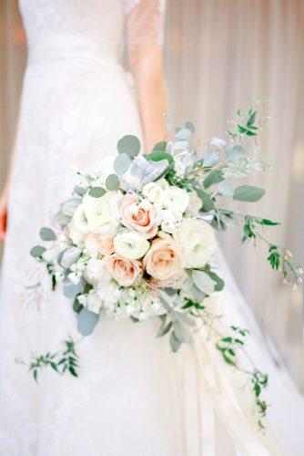 green cascading bridal bouquets 2