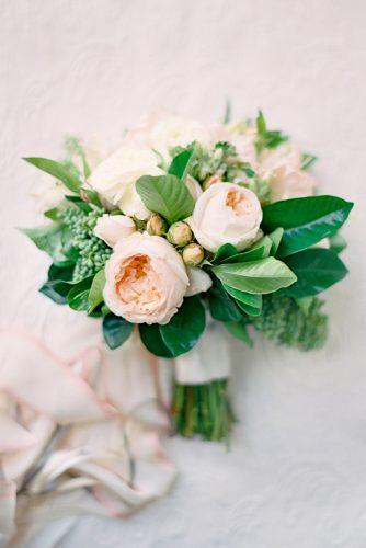greenery wedding bouquets with white accent 6
