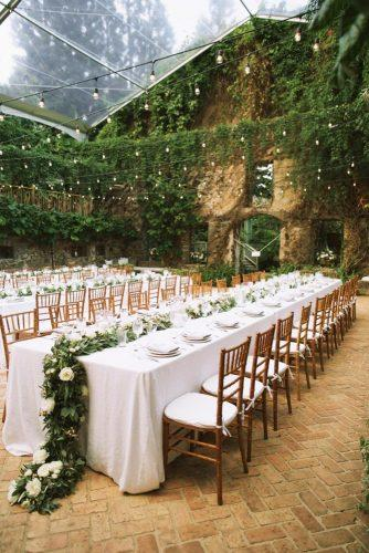 greenery wedding decorations table ideas 4