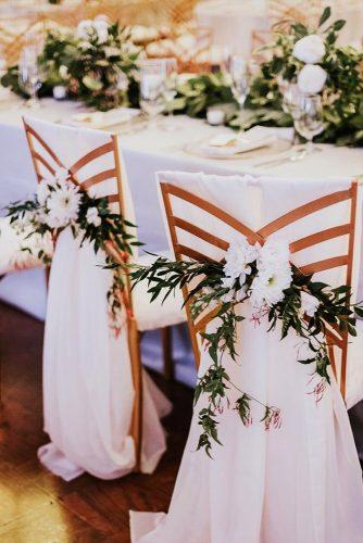 greenery wedding decorations chair ideas 5
