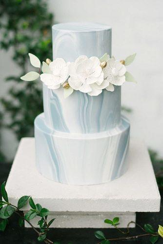 marble wedding cakes three tier with white flowers golden buds and leaves marry me tampa bay via instagram