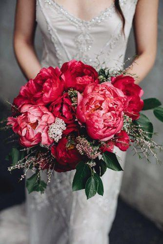 popular wedding flowers with big bright peonies and greenery white ash photography